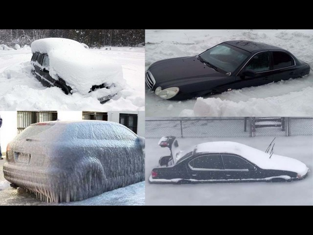 Unbelievable Video of Cars Trapped in Frozen Floodwaters Turning Into Ice Cubes