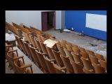 Abandoned School Dark Hallways and Bullet Casings
