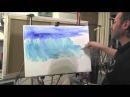 Море. Прозрачная волна Урок с замедленными съемками, художник Игорь Сахаров