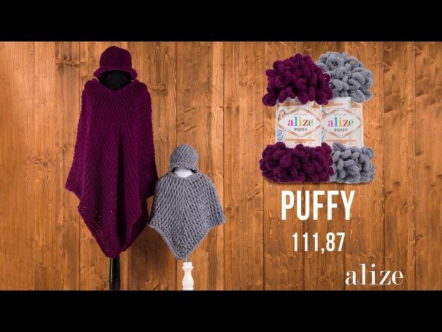 Alize Puffy ile Panço Yapımı - Making Poncho with Alize Puffy