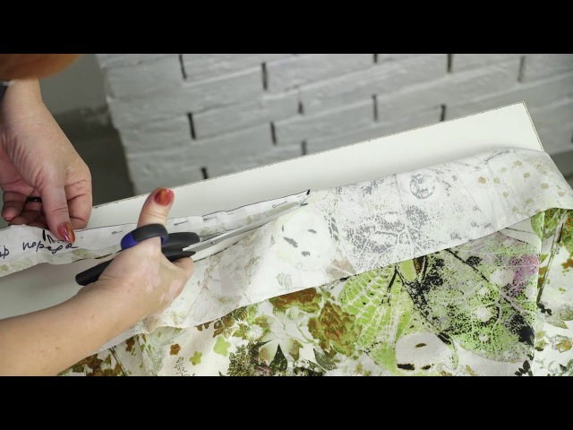 Моделирование платья с цельнокроеным рукавом подкройным бочком и вставками из другой ткани Часть 2
