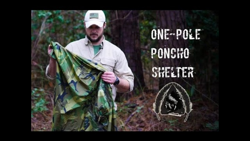 Black Scout Tutorials- One Pole Poncho Shelter