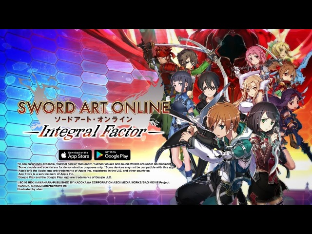 ≪iOS/Android≫ SWORD ART ONLINE: Integral Factor Official Trailer