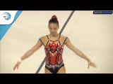 Daria Tikhonova (RUS) - 2017 Aerobics Europeans, junior qualifications