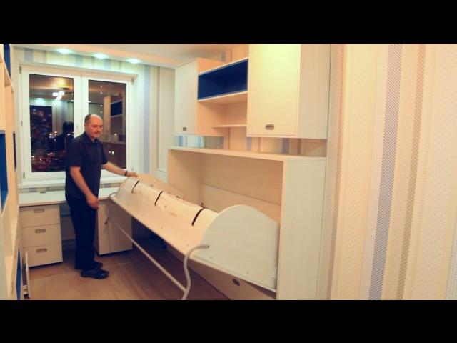 Горизонтальная шкаф-кровать трансформер ЭВОЛЮЦИЯ