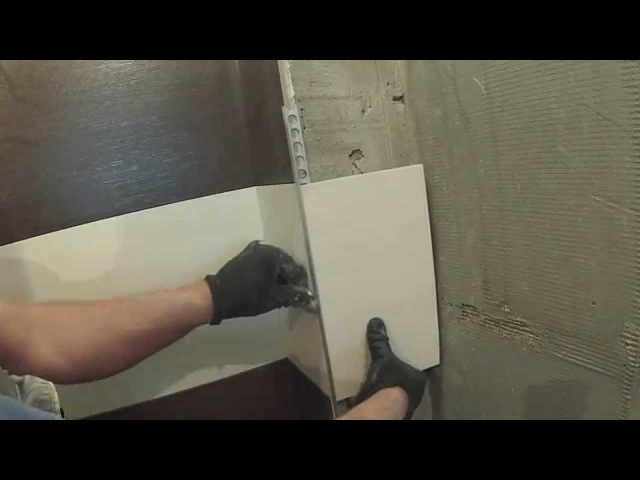 Если уголок-трим меньше толщины плитки