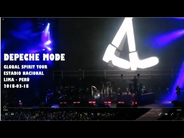 Depeche Mode Global Spirit Tour Lima Perú 18 Marzo 2018