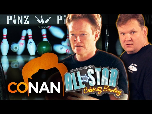 CONAN O'BRIEN ANDY RICHTER vs Team Nerdist - All Star Celebrity Bowling