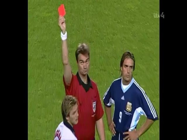 England vs Argentina 1998 - Owen Wonder Goal Beckham Red Card - Amazing England Team