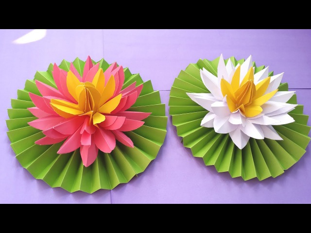 DIY How to Make Most Beautiful Lotus/ Water Lily With Paper