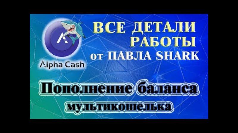 Пополнение баланса BTC, ETH, USD мультикошелька в компании ALPHACASH