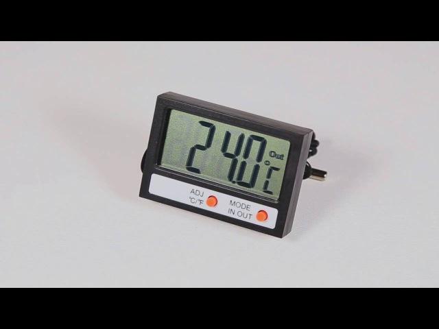 У нас в наличии термометр электронный комнатно-уличный с часами