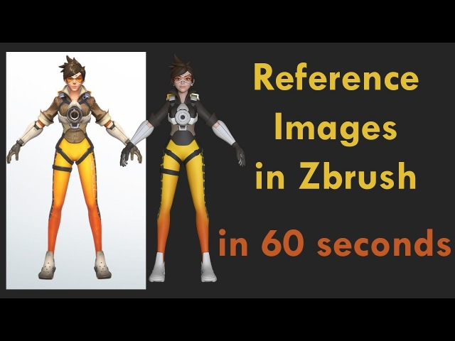 How to REFERENCE in Zbrush - 60 second tutorial!