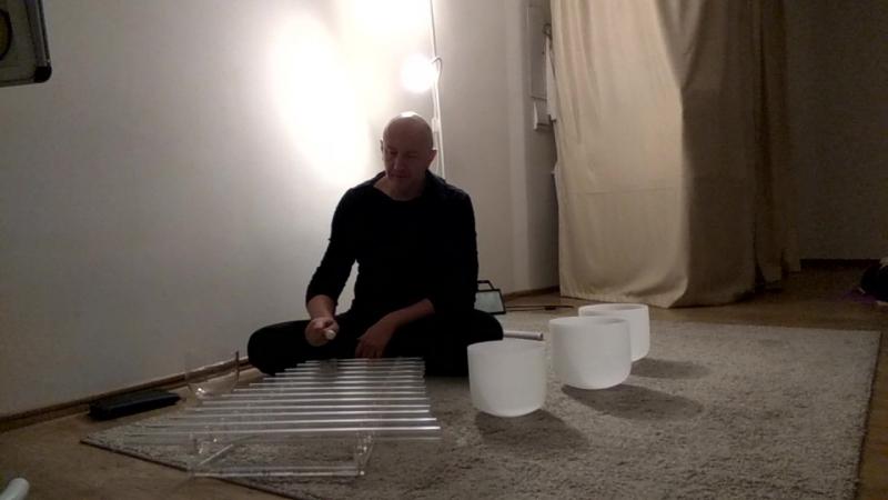 Медитация с хрустальной арфой и поющими чашами 1