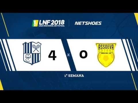 LNF2018 - Minas 4x0 Assoeva - Gols - 1ª Rodada