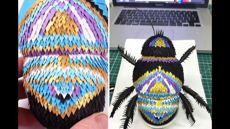 Лиза Ллойд режет бумагу на сотни мелких кусочков, чтобы создавать потрясающие фигурки