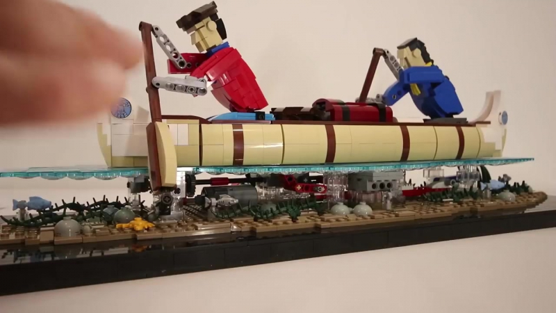 Путешественники на каноэ - LEGO модель