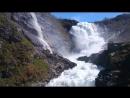 Водопад Кьосфоссен  На Фломской железной дороге. Норвегия