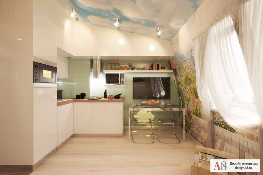 Проект мансардной квартиры 25 м.