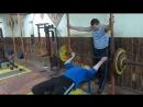 А Рубцов жим обратным хватом 85 кг