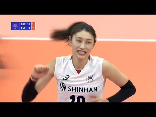 Korea v Russia Full Highlights 2018 Volleyball Nations League Women's