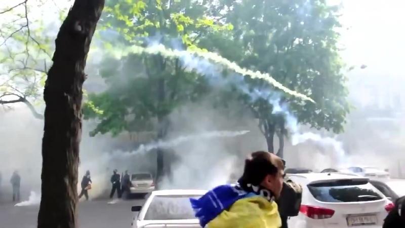 Одесса 2 мая 2014 Милиция и антимайдан