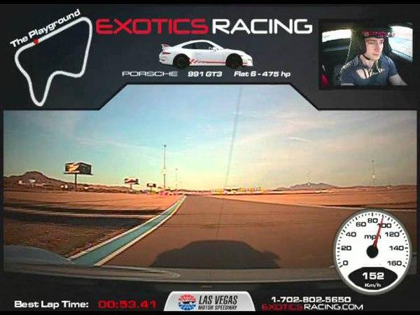 ExoticsRacing Las Vegas | FWD Porsche 911 (991 Mk1) GT3)!