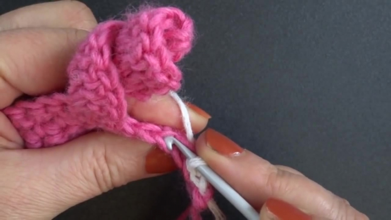 Crochet spiral Двухцветная спираль Урок вязания крючком 343