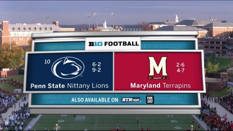 NCAAF 2017 / Week 13 / (10) Penn State Nittany Lions - Maryland Terrapins / 2Н / 25.11.2017 / EN