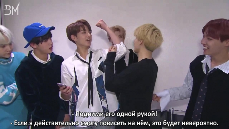 [RUS SUB][10.10.17] Unpublished Video on Inkigayo Interview for Melon