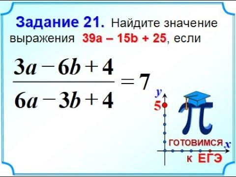 ОГЭ Задание 21 Алгебраические выражения