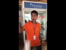 В Таиланде тоже этот милый официант, знает что Маккаби только в Хайфе . Зеленые на высоте 💚👍