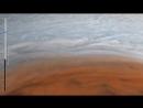 Анимация полета в Большое красное пятно Юпитера