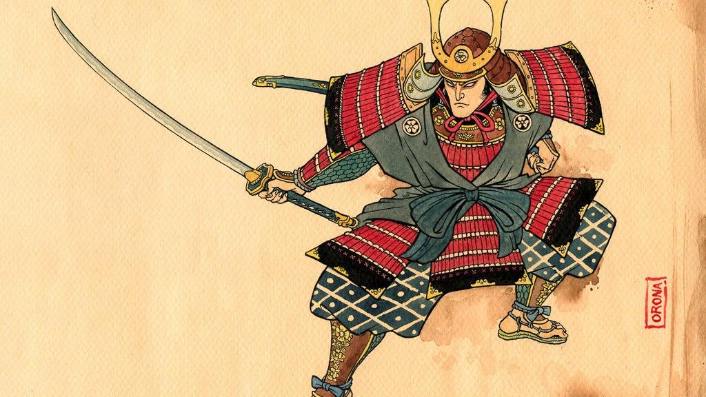 начальных картинка самурай с мухобойкой сделать