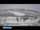 В районе набережной Рыбинска откололась огромная льдина