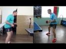 Уроки настольного тенниса_ Накат слева в движении
