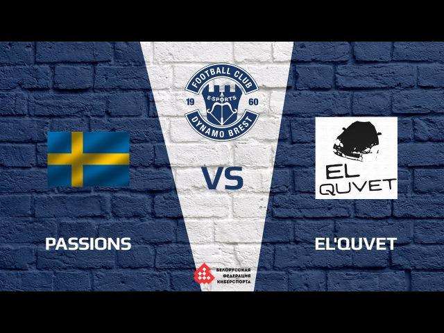 Passions vs eL'quvet, map 1 cobblestone, FCDB Cup 2017 Closed Qualifier