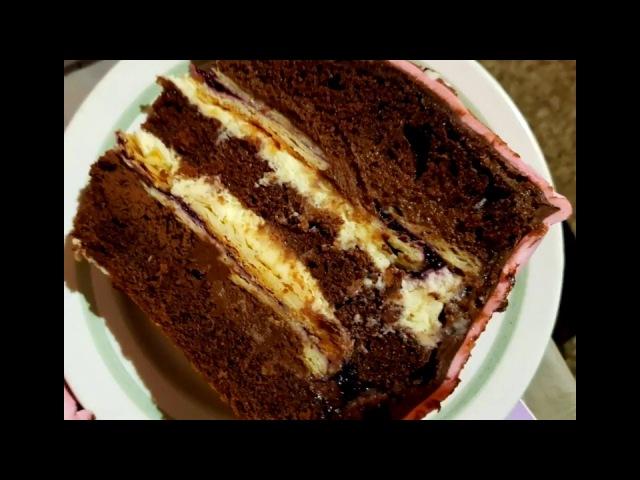 Торт Черничная Вивьен. NEWCHIC