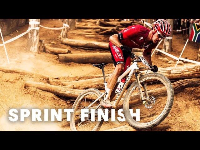 Sam Gaze's intense sprint finishatUCI MTB XCO World Cup 2018 South Africa