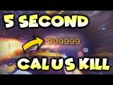 Destiny 2 - 5 SECOND CALUS KILL **New Raid Armor**