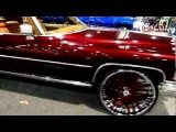 "Candy Brandywine Cadillac Coupe De Ville on 26"" Asantis V103 Car Show 2011 - HD"
