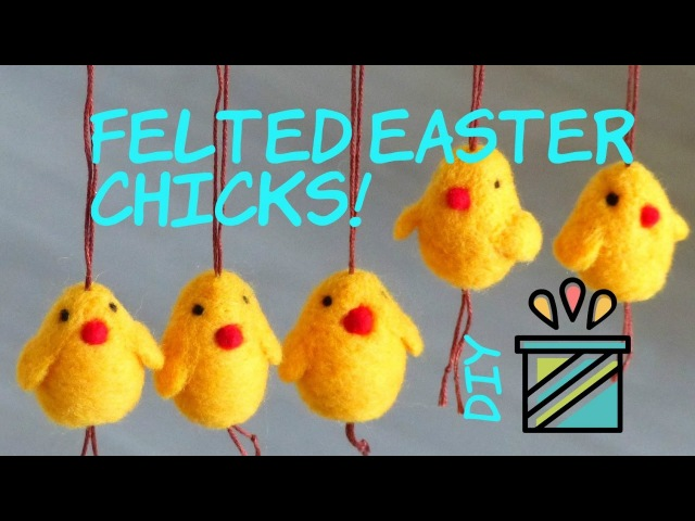 Needle felted Easter chicken tutorial