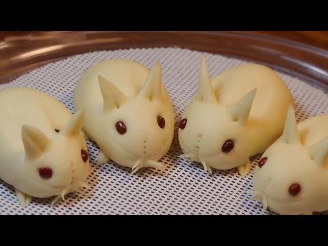 【小白兔豆沙包】大家一直想要的小白兔來啦!做法也非常簡單!