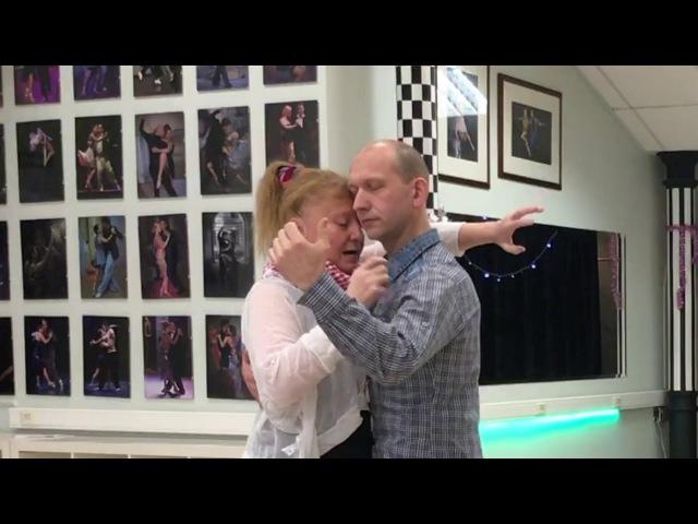 Posture of tango step abrazo 1 часть 1 го урока с Эльвирой Малишевской
