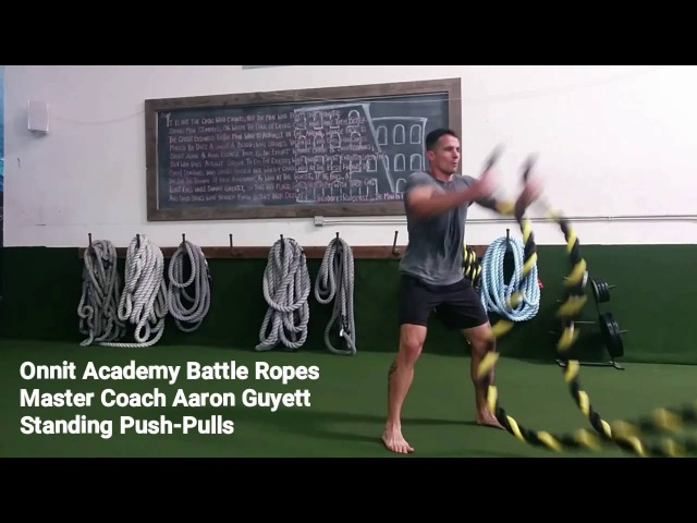 Standing Push-Pulls Battle Ropes Exercise