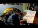 Дмитрий Козловский Звездная ночь Ван Гог. Лепные панно по известным репродукциям художников.