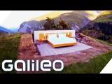 Schlafen unter Sternenhimmel - Das Schweizer Null-Sterne-Hotel Galileo Lunch Break