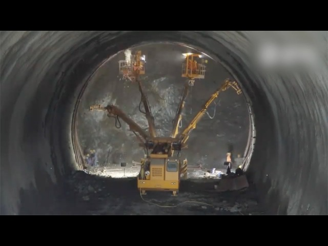 In 3 minutes: How China builds a high-speed railway tunnel