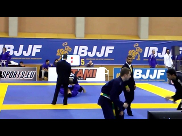 European Open BJJ 2014 Blue belt Adult Ultra Heavy 100,5 1 2 Final Anton Seleznev Seif Eddine Ho