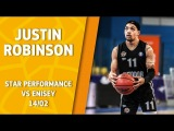 VTBUnitedLeague • Star Performance. Justin Robinson – 30 pts, 12 ast & 38 eff @ Krasnoyarsk!